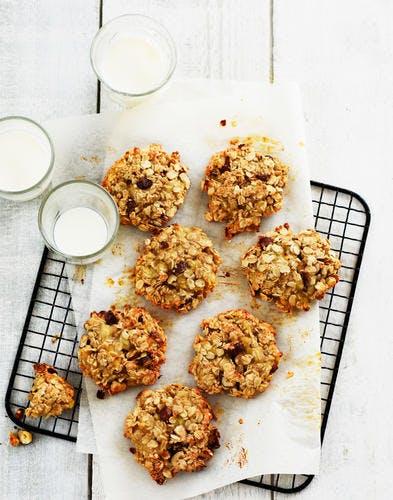 Cookies à l'avoine, banane et noisettes