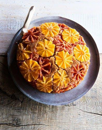 Gâteau aux oranges et pomelo caramélisés