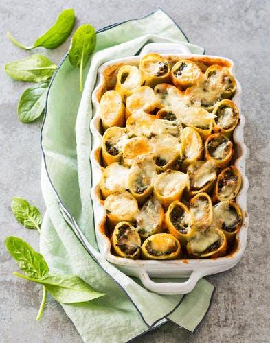 Cannelloni au boeuf et épinards au Reblochon