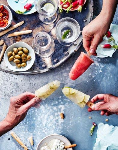 Poptails caïpirinha & margarita pastèque