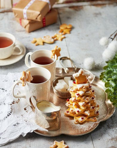 Biscuits sapin de Noël à la vanille