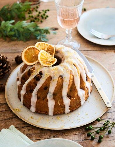 Cake « façon kouglof » aux citrons et raisins