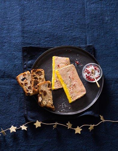 Terrine de foie gras en papillote
