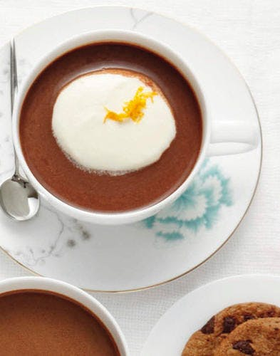 Chocolat chaud praliné à l'orange