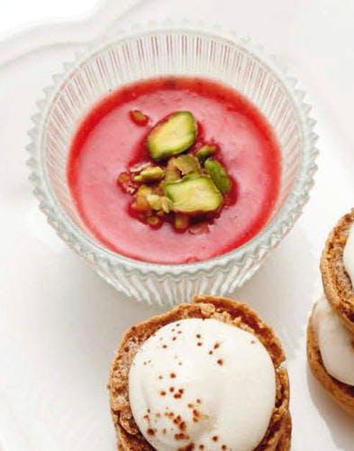 Panna-cotta vanille-fraise