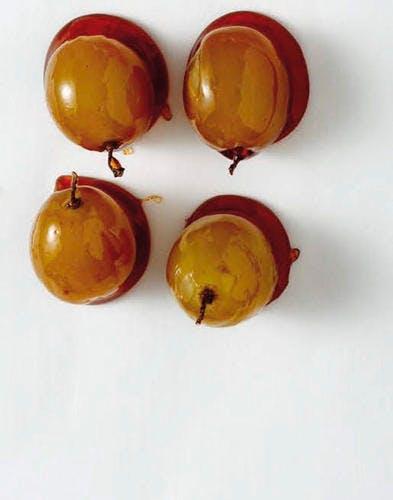 Raisins en coque caramel