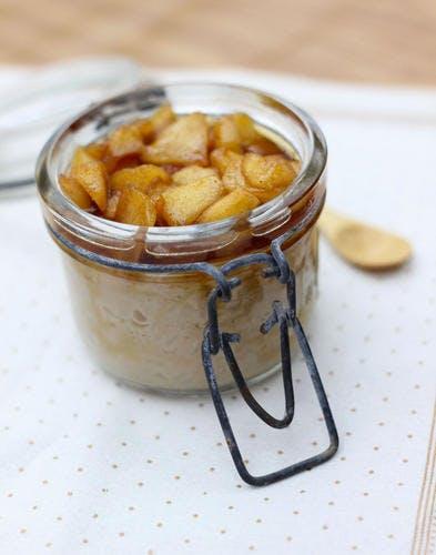 Riz au lait sans lactose aux pommes