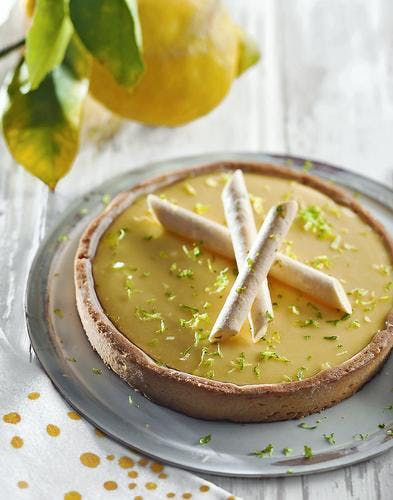 Tarte au citron et yuzu