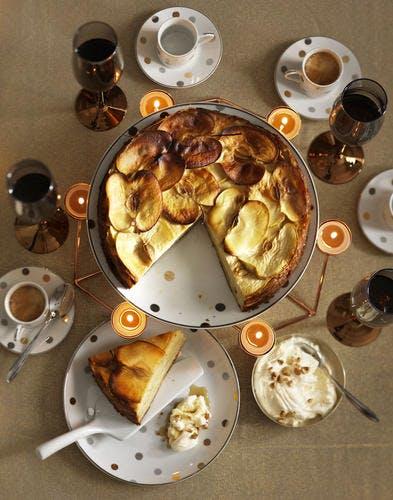 Gâteau de pommes au sirop d'érable