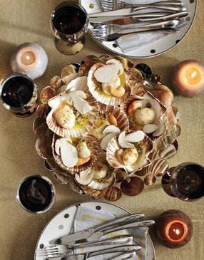 Coquilles saint-jacques au beurre de cèpes