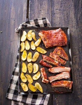 Poitrine d'agneau sauce BBQ