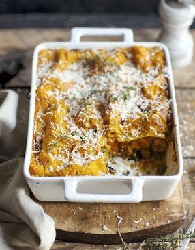 Lasagnes à la purée de courge butternut
