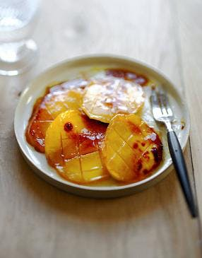 Tranches de mangues caramélisées