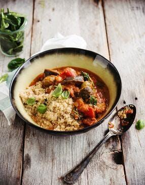 Quinoa aux aubergines sauce paprika