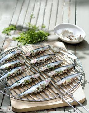 Sardines farcies au fromage frais