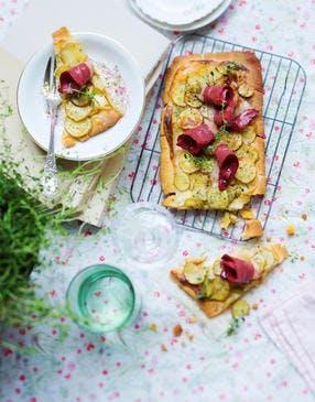 Tarte aux pommes de terre et mascarpone
