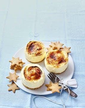 Mini-cheesecakes façon crème brûlée