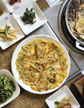 Galette coréenne aux champignons (Beoseot-jeon)