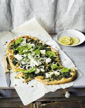 Pizza feta épinards