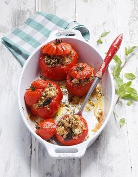 Tomates farcies à la semoule de quinoa sans gluten