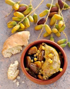 Poulet aux dattes à la tunisienne