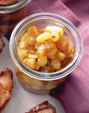 Chutney pommes-raisins