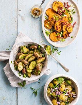 Trio de salades de pommes de terre