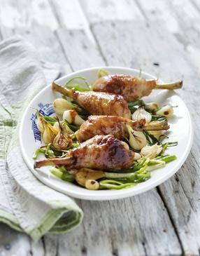 Manchons de poulet caramélisés