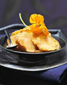 Tempura de patate douce orange