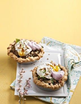 Les tartelettes aux œufs pochés