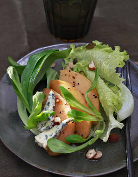 Salade aux coings confits