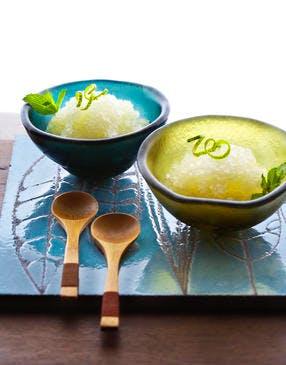 Granité de yuzu au gingembre et saké