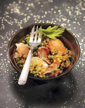Homard braisé aux petits légumes