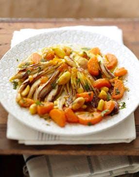 Tajine de raie aux carottes et aux amandes