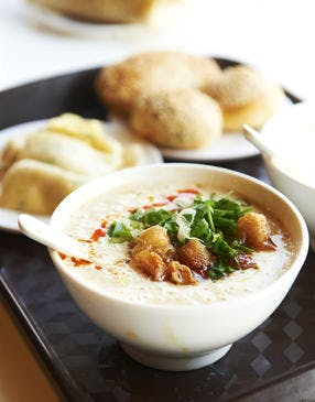 Shao bing et soupe de lait de soja
