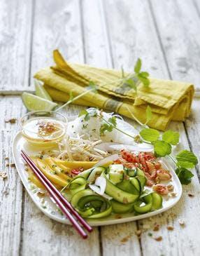 Salade thaïe aux courgettes