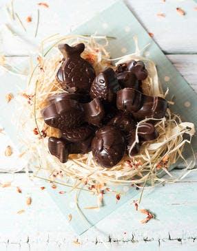 Chocolats de Pâques fourrés au caramel