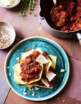 Lasagnes, sauce al ragù