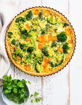 Tarte aux carottes et brocolis