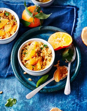 Salade de carottes, lentilles roses et clémentines