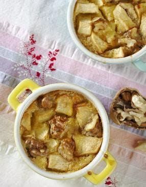 Clafoutis aux pommes et noix