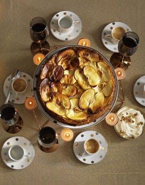Gâteau de pommes au sirop d'érable et chantilly mascarpone