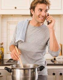illust homme cuisine