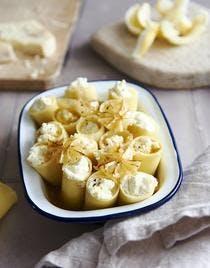 Cannelloni farcis aux trois fromages et aux agrumes