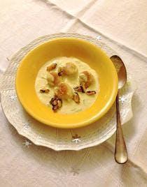 Crème aux saint-jacques et aux moules