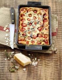 Clafoutis aux tomates cerises et olives noires