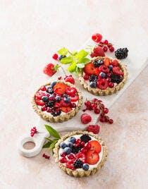 Recette de tartelettes aux fruits rouges sans cuisson
