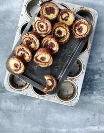 Petits gâteaux marbrés chocolat - caramel