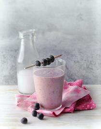 Smoothie aux baies rouges