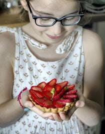 Tartelettes aux fraises et sucre complet